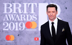 Hugh Jackman attending the Brit Awards 2019 at the O2 Arena, London.