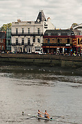 Chiswick, Greater London, UK., 11th October 2020, Pairs Head of the River Race, Restricted entry and Shortened Course COVID-19,  Barnes Bridge and Dukes Meadows location,
