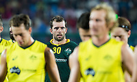 RAIPUR (India) .  goalie Andrew Charter (Aus) played his 100th cap .Hockey Wold League Final  men . AUSTRALIA v GREAT BRITAIN.   © Koen Suyk/Treebypictures