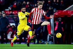 Alex Jakubiak of Bristol Rovers takes on Glenn Loovens of Sunderland - Mandatory by-line: Robbie Stephenson/JMP - 15/12/2018 - FOOTBALL - Stadium of Light - Sunderland, England - Sunderland v Bristol Rovers - Sky Bet League One