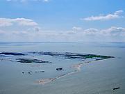 Nederland, Flevoland, Markermeer, 07-05-2021; Marker Wadden in het Markermeer. Gezien vanuit het Noordoosten.<br /> Doel van het project van Natuurmonumenten en Rijkswaterstaat is natuurherstel, met name verbetering van de ecologie in het gebied, in het bijzonder de kwaliteit van bodem en water. De Marker Wadden archipel bestaat momenteel uit vijf eilanden, twee nieuwe eilanden zijn in ontwikkeling.<br /> Marker Wadden, artifial islands. The aim of the project is to restore the ecology in the area, in particular the quality of soil and water.<br /> The Marker Wadden archipelago currently consists of five islands, two new islands are under development.<br /> luchtfoto (toeslag op standard tarieven);<br /> aerial photo (additional fee required)<br /> copyright © 2021 foto/photo Siebe Swart
