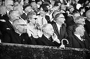 06/09/1970<br /> 09/06/1970<br /> 6 September 1970<br /> All-Ireland Senior Hurling Final: Cork v Wexford at Croke Park, Dublin. <br /> <br /> President Eamonn de Valera (right) and His Grace Most Rev. Dr. Morris, Archbishop of Cashel (left) at the game.