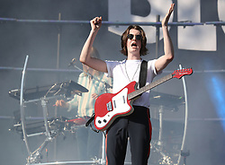 Tom Ogden from Blossoms performs during the TRNSMT festival on Glasgow Green in Glasgow.