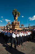 Feast of Corpus Christi. San Sebastian in the procession, with the barefoot porters