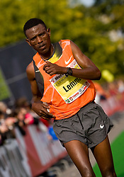 Fekadu Lemma of Ethiopia at the finish line of the 14th Marathon of Ljubljana, on October 25, 2009, in Ljubljana, Slovenia.  (Photo by Vid Ponikvar / Sportida)