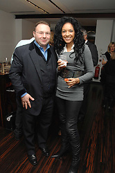 JONATHAN SHALIT and KANYA KING founder of the MOBO's at a Valentine's Party in aid of Chickenshed held at De Beers, 50 Old Bond Street, London W1 on 6th Fbruary 2008.<br /><br />NON EXCLUSIVE - WORLD RIGHTS