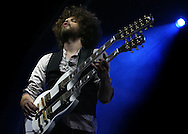 PERTH, AUSTRALIA - MARCH 31:  Andrew Stockdale of Wolfmother performs on stage at the West Coast Blues & Roots Festival at the Esplanade Reserve, Fremantle on March 31, 2007 in Perth, Australia.  (Photo by Paul Kane/Getty Images) *** Local Caption *** Andrew Stockdale