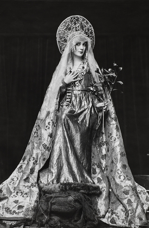 Lavery, Lady Hazel (in 'The Miracle' costume, full length), England, UK, 1916