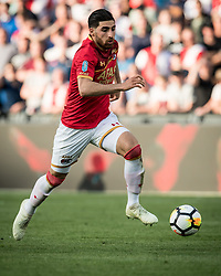 Alireza Jahanbakhsh of AZ during the Dutch Toto KNVB Cup Final match between AZ Alkmaar and Feyenoord on April 22, 2018 at the Kuip stadium in Rotterdam, The Netherlands.