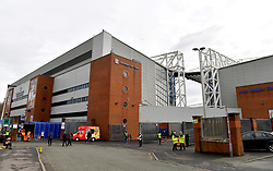 A general view of the outside of Ewood Park