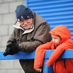 TELFORD COPYRIGHT MIKE SHERIDAN  AFC Telford fans during the Vanarama Conference North fixture between AFC Telford United and Darlington at The New Bucks Head on Saturday, March 7, 2020.<br /> <br /> Picture credit: Mike Sheridan/Ultrapress<br /> <br /> MS201920-049