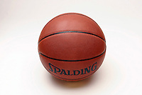 17 May 2005: NBA Basketball stock, closeup, texture, Sports Ball graphic detail, illustration, product, art, white background. Spalding, Ready for all uses. International Sport.  Mandatory Credit:  Shelly Castellano