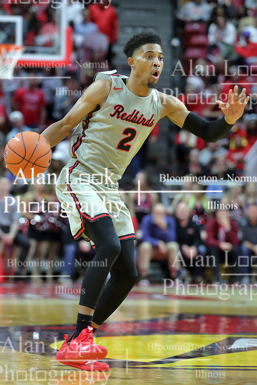 NORMAL, IL - November 06:  Zach Copeland during a college basketball game between the ISU Redbirds  and the Florida Gulf Coast Eagles on November 06 2018 at Redbird Arena in Normal, IL. (Photo by Alan Look)