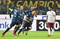 Esultanza Gol Gary Medel Inter Goal celebration delusione Mohamed Salah <br /> Milano 31-10-2015 Stadio Giuseppe Meazza / San Siro Football Calcio Serie A 2015/2016 Inter - AS Roma Foto Andrea Staccioli / Insidefoto