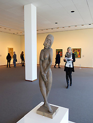 Paintings and sculpture in  the Neue Nationalgalerie in Kulturforum in Berlin Germany