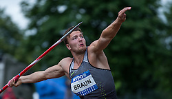 29.05.2016, Moeslestadion, Goetzis, AUT, 42. Hypo Meeting Goetzis 2016, Zehnkampf der Herren, Speerwurf, im Bild Pieter Braun (NED) // Pieter Braun of Netherlands in action during the javelin throw event of the Decathlon competition at the 42th Hypo Meeting at the Moeslestadion in Goetzis, Austria on 2016/05/29. EXPA Pictures © 2016, PhotoCredit: EXPA/ Peter Rinderer