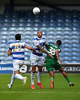 Football - 2019 / 2020 Sky Bet (EFL) Championship - Queens Park Rangers vs. Sheffield Wednesday<br /> <br /> Queens Park Rangers' Geoff Cameron battles with Sheffield Wednesday's Alesio Da Cruz, at Kiyan Prince Foundation Stadium (Loftus Road).<br /> <br /> COLORSPORT/ASHLEY WESTERN