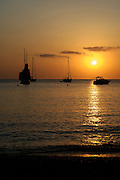 Sunset at Benirras beach, in the north of Ibiza