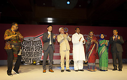 July 31, 2017 - Dhaka, Bangladesh - July 31, 2017, Dhaka, Bangladesh- Bangladesh Minister for Information Hasanul Haq Inu as the chief guest and State Minister for Women and Children Affairs Meher Afroze Chumki guest of honor and other gust on the stage during the launch program day in the Dhaka Bangladesh, 31 July 2017.  The campaign of the Bangladeshi Ministry of Women and Children Affairs has been developed with technical and financial support from the United Nations Children's Fund (UNICEF), the UN Population Fund (UNFPA) and the Canadian government. Bangladesh has one of the highest rates of child marriage in the world, and the practice remains socially acceptable in many parts of the country © Monirul Alam (Credit Image: © Monirul Alam via ZUMA Wire)