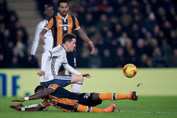 Manchester United's Ander Herrera runs into Hull City's Adama Diomande