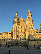Spain, Santiago de Compostela, The Way of St James, Plaza de Praterias and Cathedral