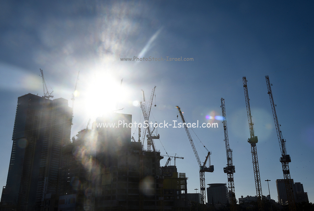 back lit Industry and construction concept