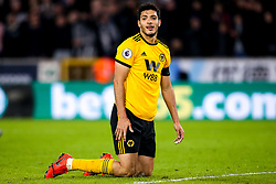 Raul Jimenez of Wolverhampton Wanderers cuts a frustrated figure - Mandatory by-line: Robbie Stephenson/JMP - 11/02/2019 - FOOTBALL - Molineux - Wolverhampton, England - Wolverhampton Wanderers v Newcastle United - Premier League