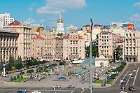 Ukraine, Kiev, place de l'Indépendance. // Ukraine, Kiev, Independence square/