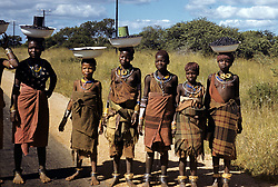 STRGSW  Natives stand along the roadside watching passing tourists in South Africa. The Canadian Press - Mildred Dearborn  (Credit Image: © The Canadian Press/ZUMApress.com)