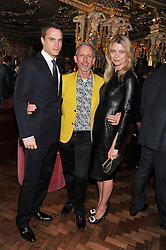 Left to right, The EARL OF MORNINGTON, PATRICK COX and the COUNTESS OF MORNINGTON at the 50th birthday party for Patrick Cox held at the Café Royal Hotel, 68 Regent Street, London on 15th March 2013.