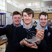 27.04.2016.          <br />  Kalin Foy and Ciara Coyle win SciFest@LIT<br /> Kalin Foy and Ciara Coyle from Colaiste Chiarain Croom to represent Limerick at Ireland's largest science competition.<br /> <br /> Pictured are Crescent College students, Pearse McMullen, Cian McDonnell and Karl Moloney's with their project, Exocan which won the SFI Space Award. <br /> <br /> Of the over 110 projects exhibited at SciFest@LIT 2016, the top prize on the day went to Kalin Foy and Ciara Coyle from Colaiste Chiarain Croom for their project, 'To design and manufacture wireless trailer lights'. The runner-up prize went to a team from John the Baptist Community School, Hospital with their project on 'Educating the Youth of Ireland about Farm Safety'.   Picture: Alan Place