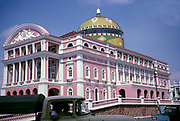 The Amazon Theatre built 1895, Teatro Amazonas, historic Opera House building, Manaus, Brazil 1962 architect Celestial Sacardim architecture from the Belle Époque of the nineteenth century rubber industry