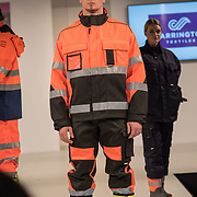 Carrington Textitles Catwalk show at the Professional Clothing Show - Safety and Health Expo at Excel London, UK on June 19 2018.