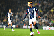 West Bromwich Albion forward Callum Robinson (7) looks to release the ball during the EFL Sky Bet Championship match between West Bromwich Albion and Derby County at The Hawthorns, West Bromwich, England on 14 September 2021.