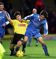 Fotball<br /> Championship England 2004/05<br /> Watford v Cardiff<br /> 28. desember 2004<br /> Foto: Digitalsport<br /> NORWAY ONLY<br /> junichi inamoto holds of johnnie jackson
