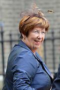 Prinsjesdag 2013 - Aankomst Parlementariërs bij de Ridderzaal op het Binnenhof.<br /> <br /> Op de foto: Annemarie Jorritsma