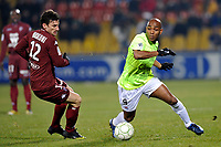 FOOTBALL - FRENCH CHAMPIONSHIP 2009/2010  - L2 - FC METZ v SM CAEN  - 25/01/2010 - PHOTO GUILLAUME RAMON / DPPI - <br /> KANDIA TRAORE (CAEN) AND STEPHANE BORBICONI (METZ)