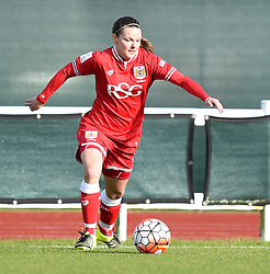 Loren Dykes defender for Bristol City Women - Mandatory by-line: Paul Knight/JMP - Mobile: 07966 386802 - 14/02/2016 -  FOOTBALL - Stoke Gifford Stadium - Bristol, England -  Bristol Academy Women v QPR Ladies - FA Cup third round