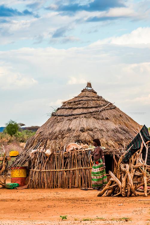 Hamer tribe village, Omo Valley, Ethiopia.