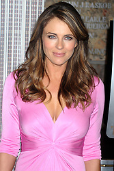 Oct. 1, 2012 - New York, New York, USA - Elizabeth Hurley lights up the Empire State Builging  in the same shade as her pink ensemble to celebrate the 20th anniversary of Estee Lauder's annual Breast Cancer Awareness campaign, New York, October 01, 2012 (Credit Image: © Future-Image/ZUMAPRESS.com)