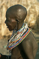 August 1978, Kenya --- El Molo Woman --- Image by © Owen Franken/CORBIS