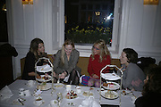 Claire Ingle-Finch, Marie Platt, Cozmo Jencks and Stephanie Lundell. Tea party to celebrate  the opening of the Buccellati  shop in Albermarle St. hosted by Charles Finch. Browns Hotel. 13 February 2007.   -DO NOT ARCHIVE-© Copyright Photograph by Dafydd Jones. 248 Clapham Rd. London SW9 0PZ. Tel 0207 820 0771. www.dafjones.com.