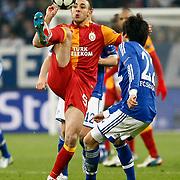 Galatasaray's Nordin Amrabat during their UEFA Champions League Round of 16 Second Leg match FC Schalke 04 between Galatasaray at the Gelsenkirchen stadium, Germany, on March 12, 2013. Galatasaray won 3-2. Photo by TURKPIX