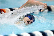 November 18, 2015; New Wilmington, PA, USA; Westminster College's Michael DiDomenico competes in the men's 1000 yard freestyle race. The Westminster mens and womens teams swept Washington & Jefferson College.