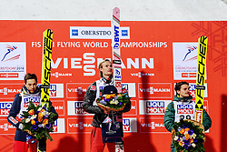 January 20, 2018 - Oberstdorf, GERMANY - 18012Kamil Stoch, of Poland, Daniel Andre Tande, of Norway, and Richard Freitag, of Germany, at the podium after winning the FIS Ski Flying World Championships on January 20, 2018 in Oberstdorf..Photo: Vegard Wivestad Grøtt / BILDBYRÃ…N / kod VG / 170080 (Credit Image: © Vegard Wivestad GrØTt/Bildbyran via ZUMA Wire)