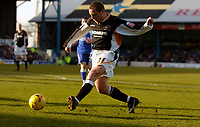 Photo: Alan Crowhurst.<br />Cardiff City v Hull FC. Coca Cola Championship. 18/02/2006. <br />Mark Noble has a shot on goal for Hull.