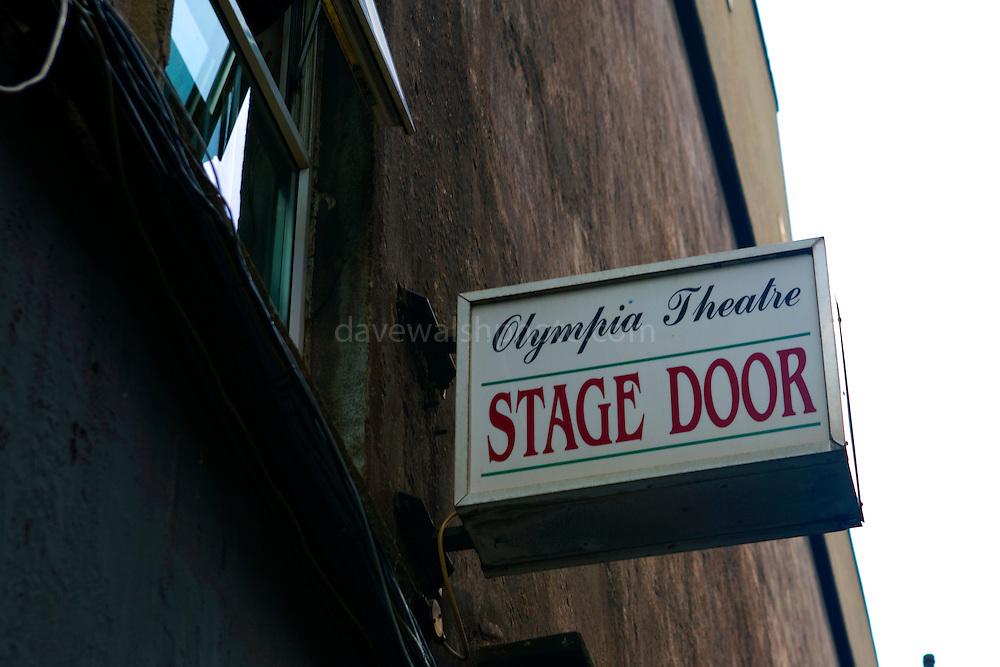 Stage door of Olympia Theatre, Dublin.