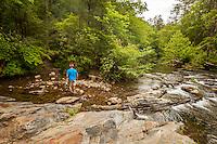 Hiker at Jacks River, Cohutta Wilderness, Chattahoochee National Forest
