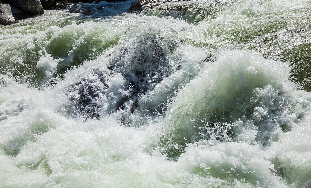 A detail of a rapid on the Icicle Creek, Icicle Canyon, Washington Cascades, USA.