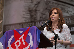 December 9, 2016 - Sao Paulo, Brazil - CRISTINA KIRCHNER, former president of Argentina, attends a conference to discuss the political situation in South America. The event took place in Sao Paulo on the night of this Friday and had the participation of militants of the PT (Workers Party) (Credit Image: © Paulo Lopes via ZUMA Wire)